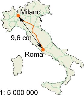 Cartina Italia Con Distanze Km.Distanze Km