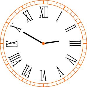 orologio numeri romani