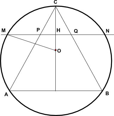 Problema Di Massimo Con Triangolo Equilatero Inscritto In Una