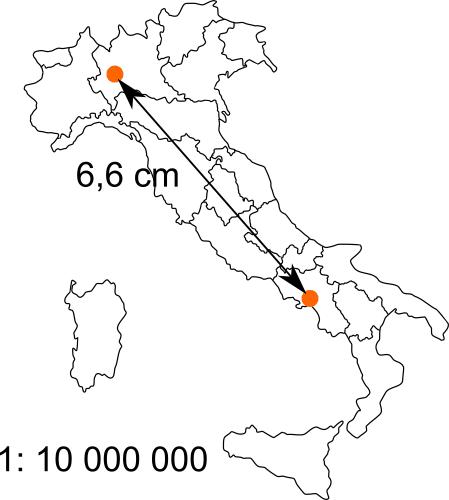 Cartina Italia Con Distanze Km.Distanza Tra Due Citta