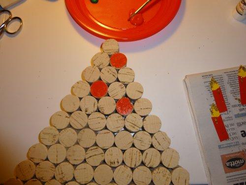 Decorazioni Fai Da Te Per Albero Di Natale : Albero di natale fai da te da parete